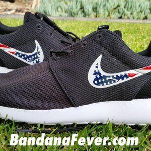 Distressed American Flag Custom Nike Roshe Shoes -